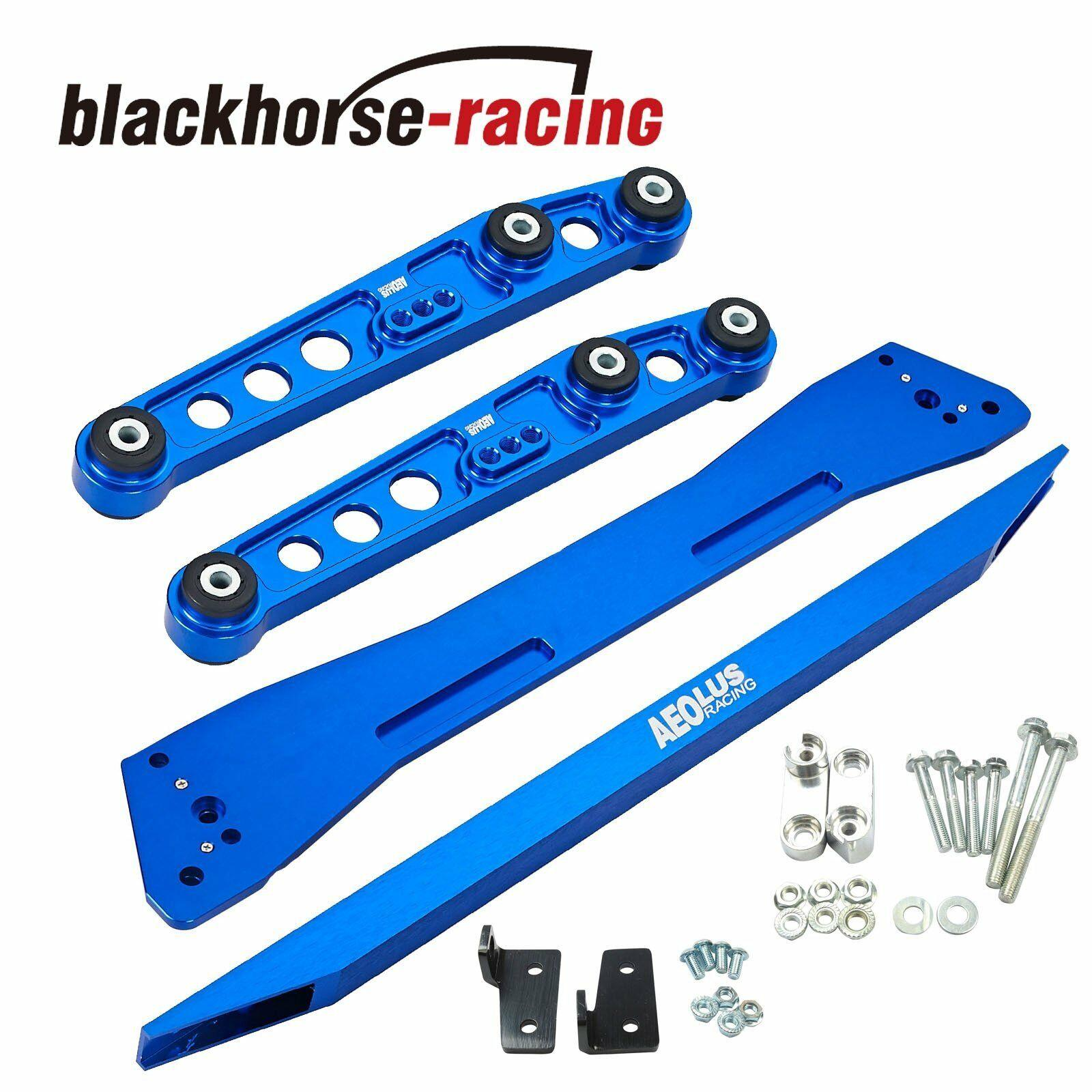 Rear Lower Control Arm Subframe Brace Tie Bar Fit Honda Civic&Acura Integra Blue