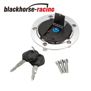 Fuel Gas Tank Cap Cover Lock Key 3 Holes For 03-08 Suzuki GSXR 600 750 GSX-R1000