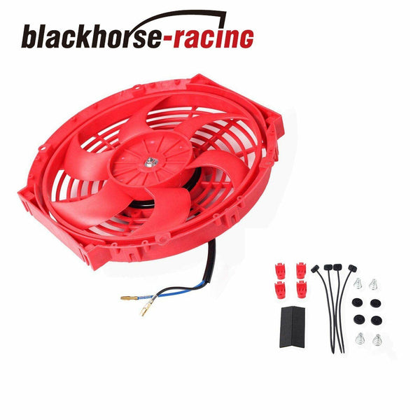 2X10'' ELECTRIC RADIATOR/ENGINE COOLING FAN+MOUNTING ZIP TIE KIT RED UNIVERSAL