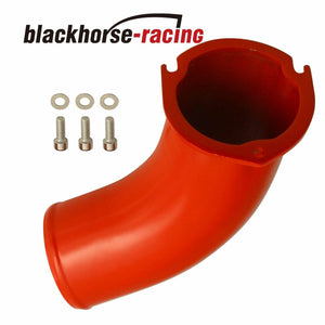For Chevy GMC 6.6L V8 Duramax Diesel LB7 01-04 3.5'' Turbo Air Intake Elbow Red