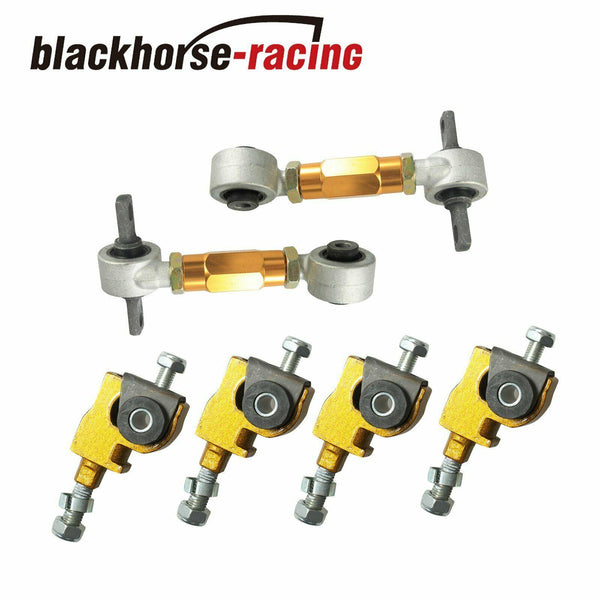 For Ef/Eg Civic/Crx 90-01 Integra Rear Camber+Front Adjustable Suspension Yellow