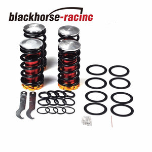 1-4''LOWERING SCALED SUSPENSION COILOVER SPRING FOR 88-00 CIVIC EG EJ EK/DC BLACK