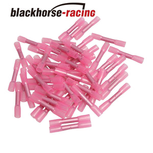 100X Red 18-22 Gauge Heat Shrink Butt Wire Connectors Crimp Terminals New