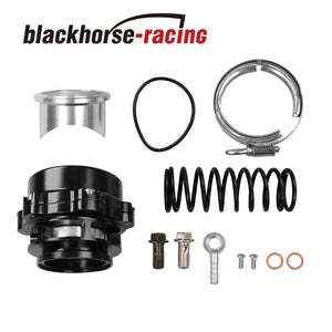 BLACK Car Turbo Blow Off Valve BOV Vband Flange Spring 0.4-1.3 Bar 50mm