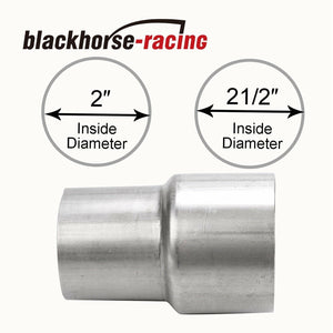 2'' ID to 2 1/2'' 2.5'' ID Universal Exhaust Pipe to Pipe Adapter Reducer
