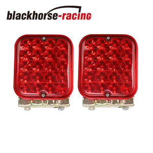 2x 4.5'' LED Trailer Tail Light Red Brake Back Up Reverse Utility RV Boat Truck