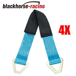 24'' Axle Straps HD Blue Tie Down f Race Car Hauler Tow Truck 4x4 Off Road X4