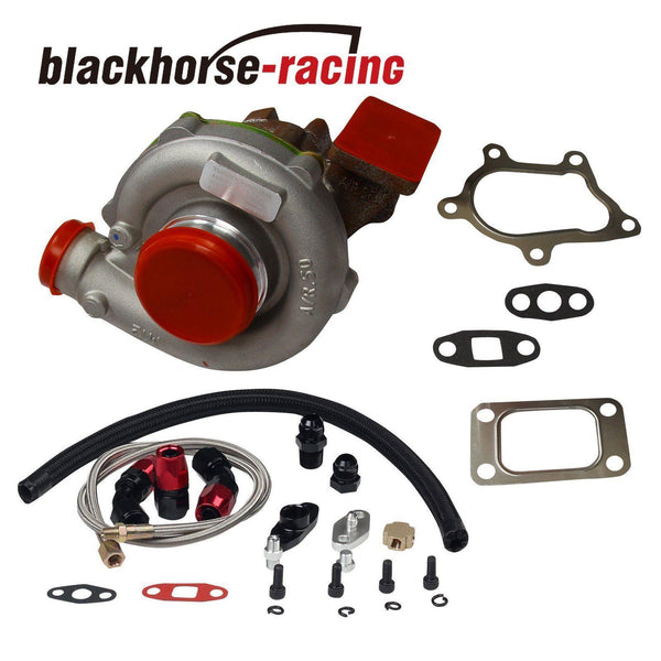FOR T04E T3/T4 A/R.63 STAGE III BOOST TURBO CHARGER+OIL FEED+DRAIN LINE BKRD