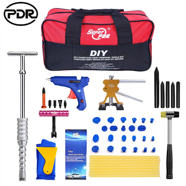 Paintless Dent Repair PDR Tools Slide Hammer Puller Hail Removal Body Tap US Kit