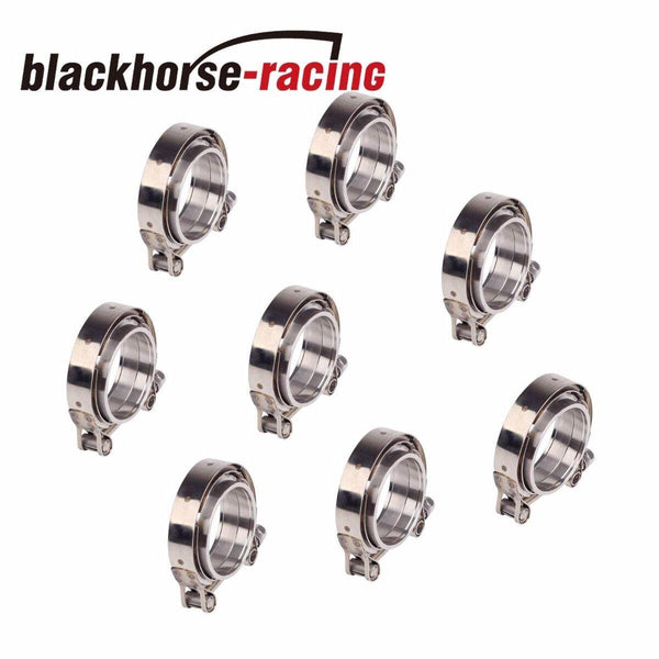 8PCS 2.5''/ 63mm stainless V-band clamp+flange turbo pipe wastegate exhaust