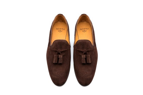 The Madison Tassel Brown Suede