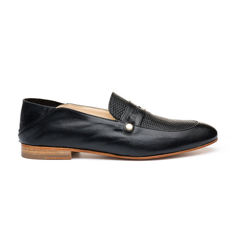 HAMPTONS BLACK LEATHER