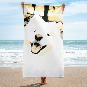 Happy Samoyed Towel
