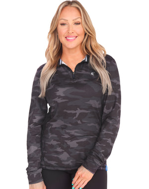 Women's Camo Monterey Quarter Zip