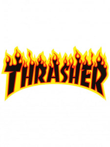 PEGATINA THRASHER FLAME LARGE