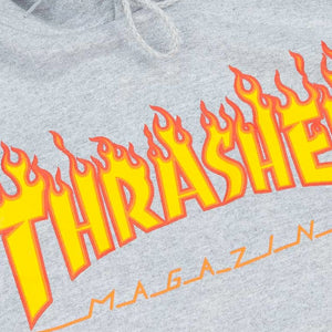 SUDADERA THRASHER FLAME (GREY)