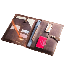 Load image into Gallery viewer, Luxury Leather Sleeve for Tablets, Laptops, iPad & Macbook Pro - CF2002