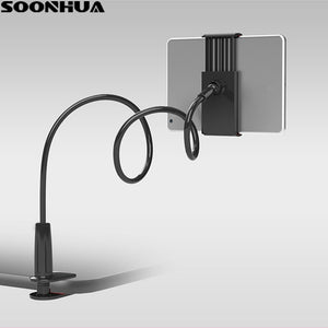 "SOONHUA Phone Holder 360 Rotating Flexible Long Arm lazy Phone Holder Clamp Bed Tablet Car Selfie Mount Bracket for 4-10"" Phone"