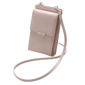 All In One Design Crossbody Fashion Phone Wallet Case Multi Function Scratches Shoulder Bag 18 x 11 x 3.5CM