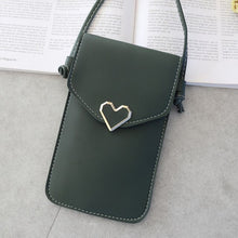 Load image into Gallery viewer, Women Heart-shaped Transparent Screen Mobile Phone Bag 2020 New Mini Messenger Bags Lady Handbag and Purses Small Phone Bag