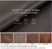 Load image into Gallery viewer, CONTACT'S FAMILY Crazy Horse Leather Padfolio Folder Document Storage Business Portfolio Holder Organizer with Zippered Closure