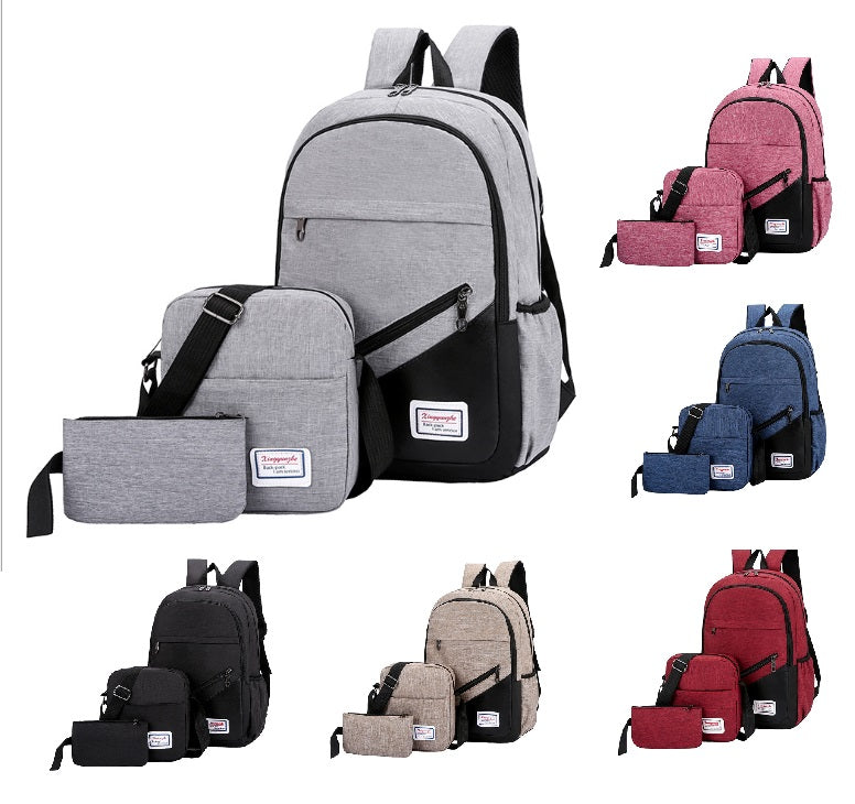 Backpack Bags 3 Piece Set - Style 1
