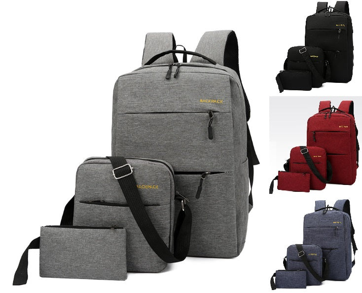Backpack Bags 3 Piece Set - Style 2