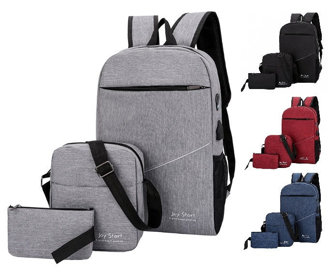 Backpack Bags 3 Piece Set - Style 3