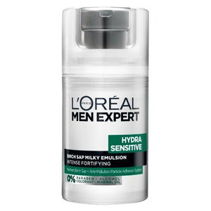 L'Oreal Men Expert Hydra Sensitive Birch Sap Milky Emulsion Anti Pollution 50ml