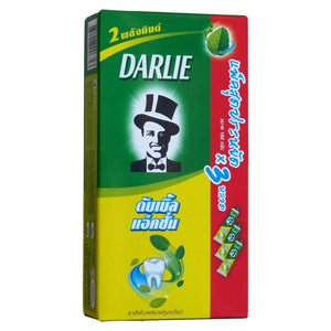 Darlie Double Action Toothpaste Two Mint Powers 160 grams Pack of 3