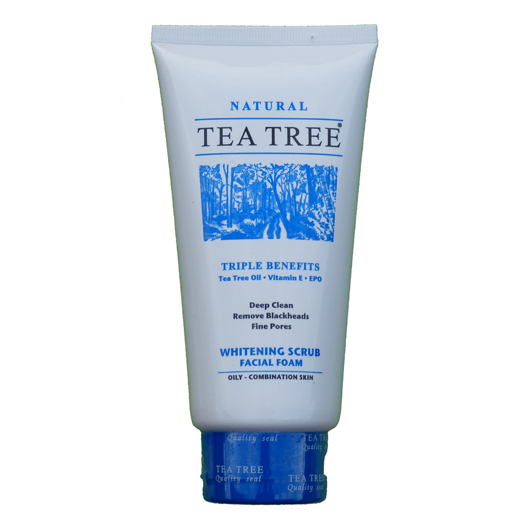 Tea Tree Natural Whitening Facial Foam Cleanser Face Wash SCRUB 140ml