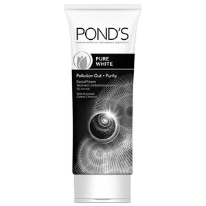 Pond's Pure White Pollution Out Purity Activated Charcoal Facial Foam 100g 3.5oz