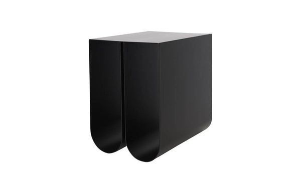 Curved Side Table - Black