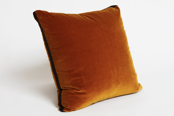Gold Velvet Walled Cushion