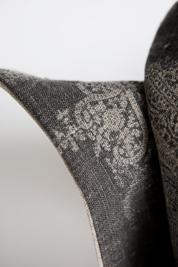 Natural Paisley Cushion by HK Edit