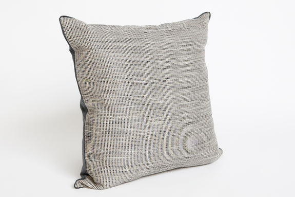 Textured Linen Cushion with Button Back