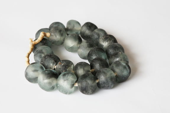 Glass Beads: Charcoal