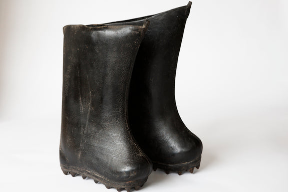 Antique Leather Snow Boots - Pair