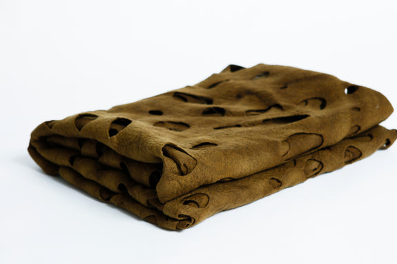 Clarity Woollen Throw - Forest Floor