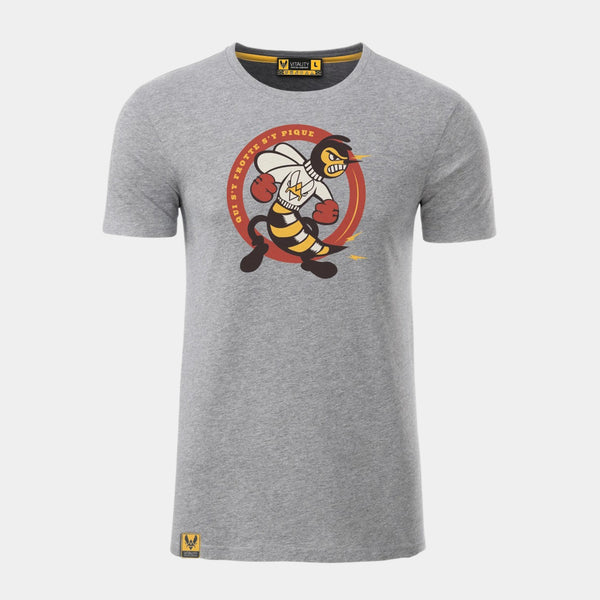 T-shirt Boxing Bee Gris