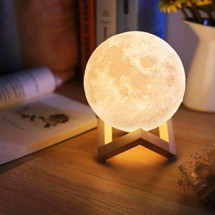 LED 3D Moon Lamp Dimmable Touch Control