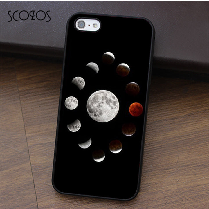 SCOZOS Lunar Moon Collage Space Astrology Astronomy case for iphone X 4 4s 5 5s Se 5C 6 6s 7 8 6&6s plus 7 plus 8 plus