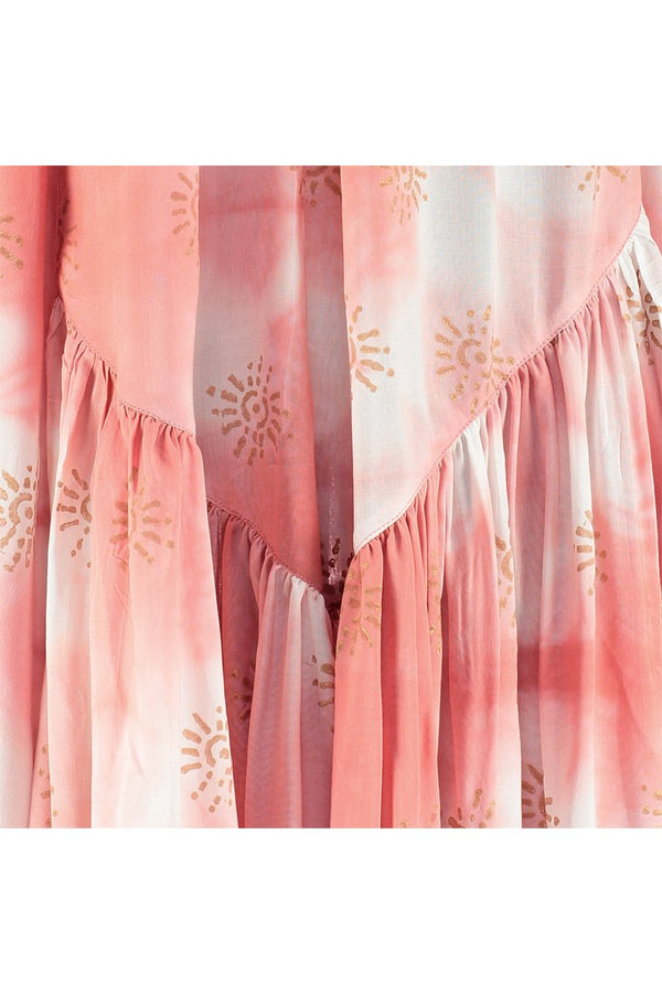 Amira Pink Tie Dye Maxi Dress