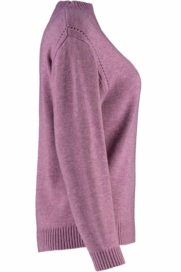 Crystal Lavender Turtleneck Jumper