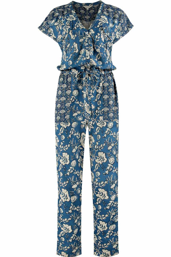 Daria Ecovero Hand Screen Print Jumpsuit