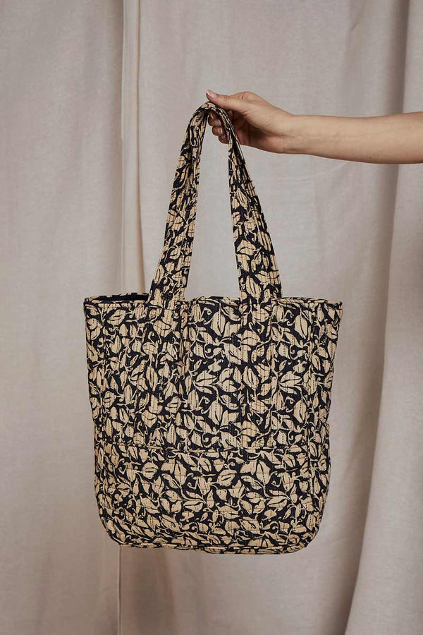 Laurie Quilted Tote Bag