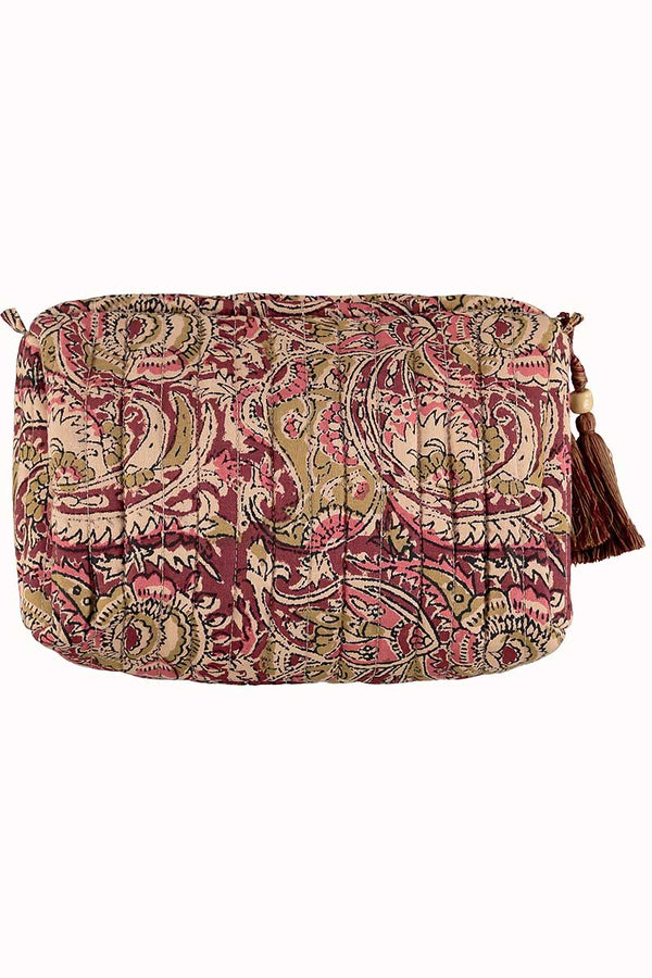 Aditi Pink Woodblock Wash Bag