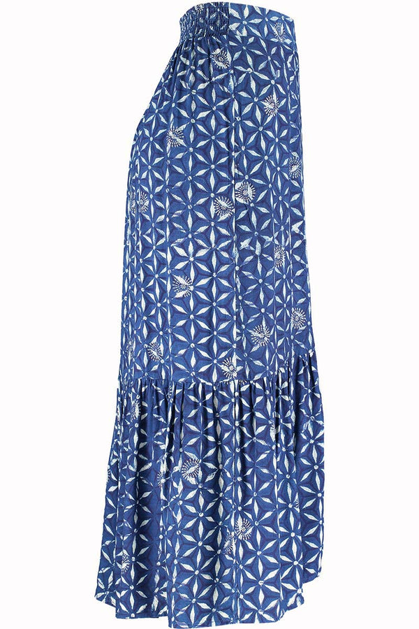 Amelie Woodblock Midi Skirt