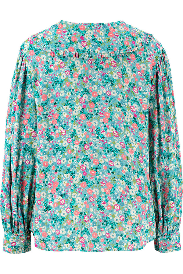 Anita Print Collar Top