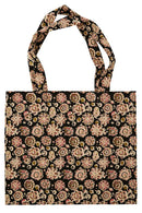 Black Printed Tote Bag